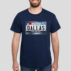 Texas License Plate [DALLAS] Dark T-Shirt